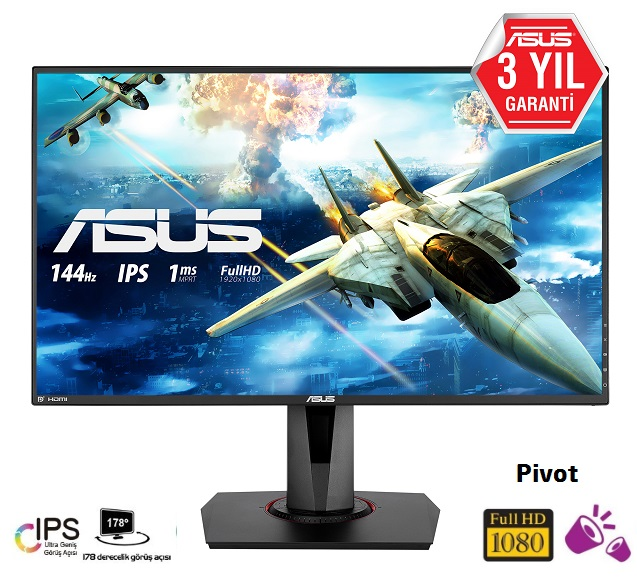 "ASUS VG279Q 27"" Full HD IPS 1ms 144Hz HDMI DP MM Gaming Monitör"