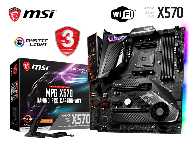 MSI MPG X570 GAMING PRO CARBON WIFI - Ryzen AM4 DDR4 Anakart